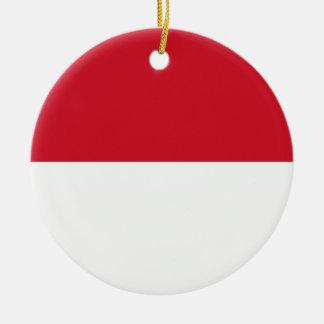 Ornamento De Cerâmica Bandeira de Monaco