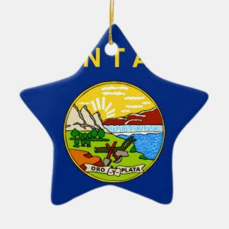 Ornamento De Cerâmica Bandeira de Montana