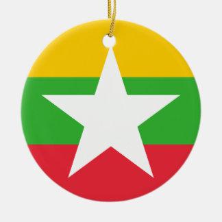 Ornamento De Cerâmica Bandeira de Myanmar