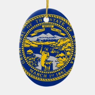 Ornamento De Cerâmica Bandeira de Nebraska