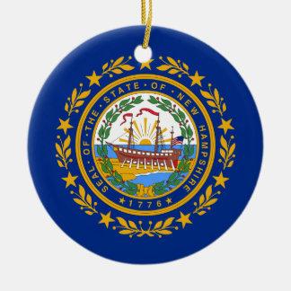 Ornamento De Cerâmica Bandeira de New Hampshire