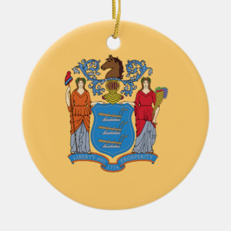 Ornamento De Cerâmica Bandeira de New-jersey