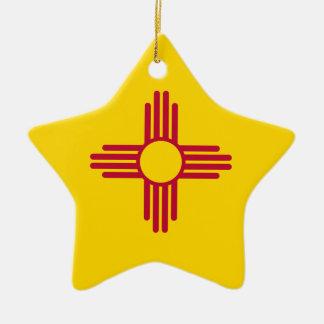 Ornamento De Cerâmica Bandeira de New mexico