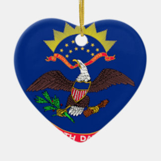 Ornamento De Cerâmica Bandeira de North Dakota