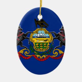 Ornamento De Cerâmica Bandeira de Pensilvânia