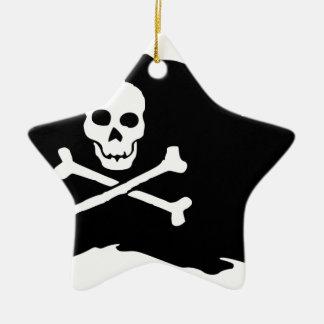 Ornamento De Cerâmica Bandeira de pirata