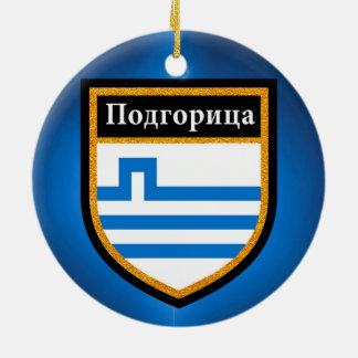 Ornamento De Cerâmica Bandeira de Podgorica