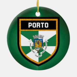 Ornamento De Cerâmica Bandeira de Porto