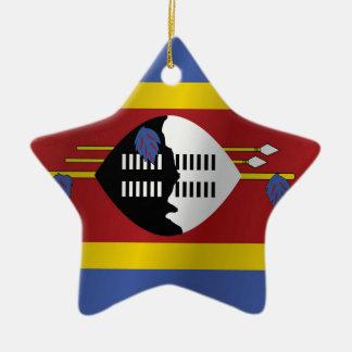 Ornamento De Cerâmica Bandeira de Suazilândia