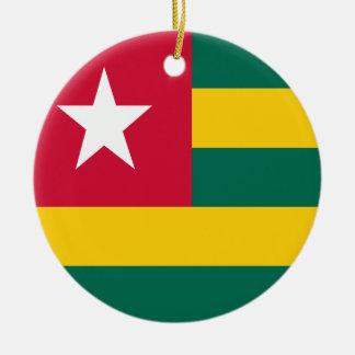 Ornamento De Cerâmica Bandeira de Togo