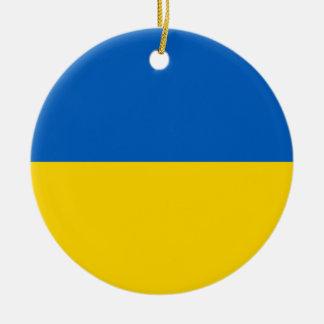 Ornamento De Cerâmica Bandeira de Ucrânia