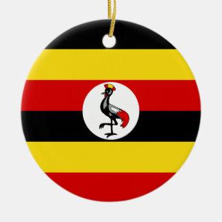 Ornamento De Cerâmica Bandeira de Uganda