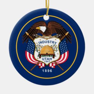 Ornamento De Cerâmica Bandeira de Utá