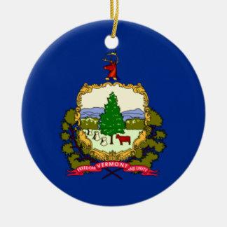 Ornamento De Cerâmica Bandeira de Vermont