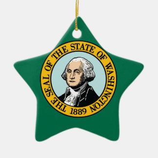 Ornamento De Cerâmica Bandeira de Washington