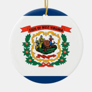 Ornamento De Cerâmica Bandeira de West Virginia