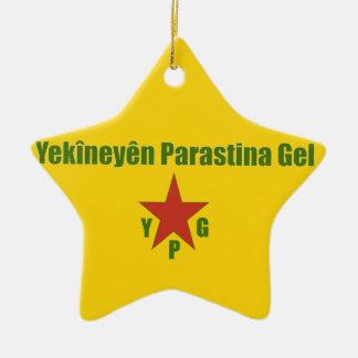 Ornamento De Cerâmica Bandeira de YPG