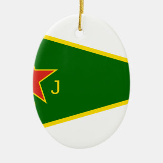Ornamento De Cerâmica Bandeira de YPJ