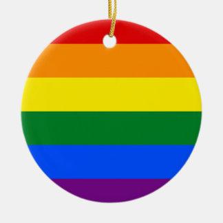 Ornamento De Cerâmica Bandeira do arco-íris