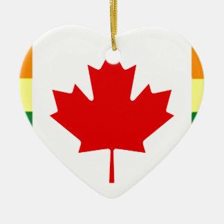 Ornamento De Cerâmica Bandeira do arco-íris de Canadá