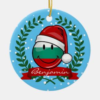 Ornamento De Cerâmica Bandeira do búlgaro do estilo do feriado