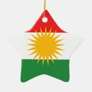 Ornamento De Cerâmica Bandeira do Curdistão; Curdo; Curdo