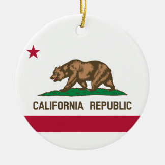 Ornamento De Cerâmica Bandeira do estado de Califórnia