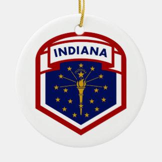 Ornamento De Cerâmica Bandeira do estado de Indiana