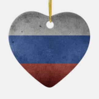 Ornamento De Cerâmica Bandeira do Grunge do vintage de Rússia