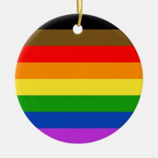 Ornamento De Cerâmica Bandeira do orgulho de Philadelphfia
