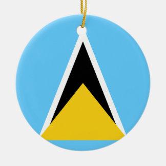 Ornamento De Cerâmica Bandeira do santo Lucia