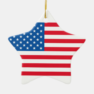 Ornamento De Cerâmica Bandeira dos Estados Unidos da bandeira dos EUA