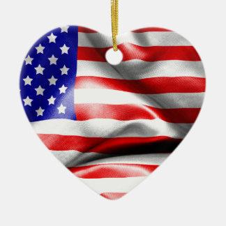 Ornamento De Cerâmica Bandeira dos EUA