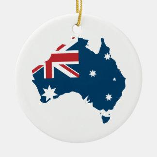 Ornamento De Cerâmica Bandeira e mapa de Austrália