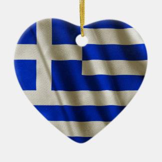 Ornamento De Cerâmica Bandeira grega