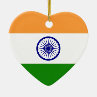 "Ornamento De Cerâmica Bandeira indiana ""Tiranga "" da boa cor"