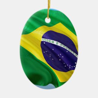 Ornamento De Cerâmica Bandeira internacional Brasil