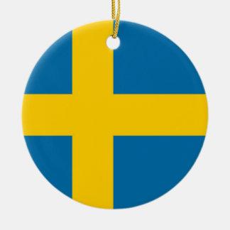 Ornamento De Cerâmica Bandeira nacional da suecia