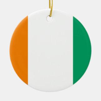 Ornamento De Cerâmica Bandeira nacional do mundo da Costa do Marfim