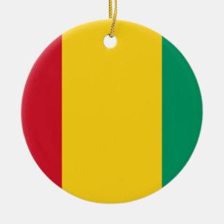Ornamento De Cerâmica Bandeira nacional do mundo da Guiné