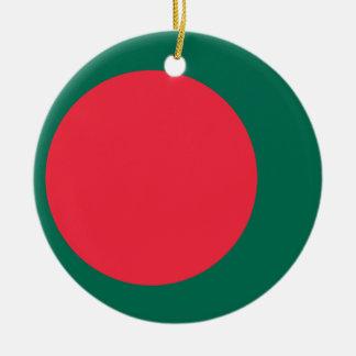 Ornamento De Cerâmica Bandeira nacional do mundo de Bangladesh
