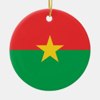 Ornamento De Cerâmica Bandeira nacional do mundo de Burkina Faso