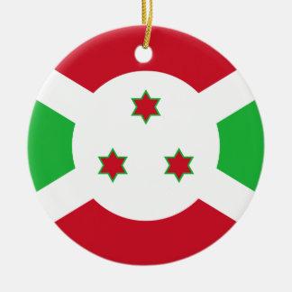 Ornamento De Cerâmica Bandeira nacional do mundo de Burundi