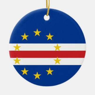 Ornamento De Cerâmica Bandeira nacional do mundo de Cabo Verde
