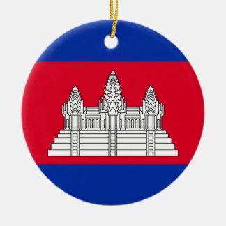 Ornamento De Cerâmica Bandeira nacional do mundo de Cambodia