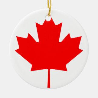 Ornamento De Cerâmica Bandeira nacional do mundo de Canadá
