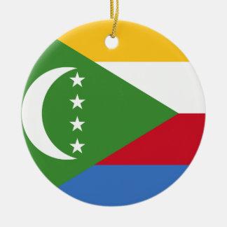 Ornamento De Cerâmica Bandeira nacional do mundo de Cômoros