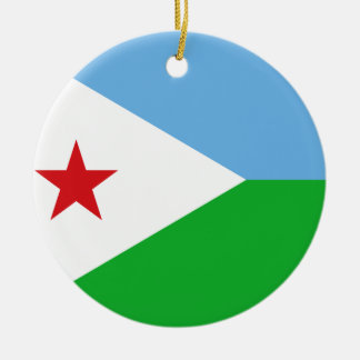 Ornamento De Cerâmica Bandeira nacional do mundo de Djibouti