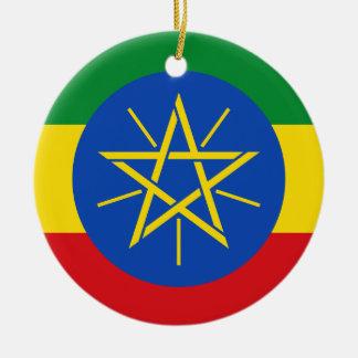 Ornamento De Cerâmica Bandeira nacional do mundo de Etiópia