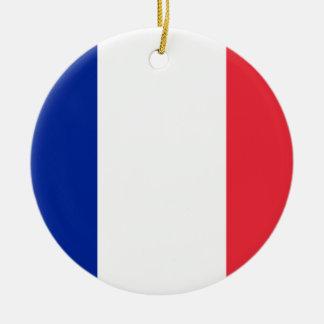 Ornamento De Cerâmica Bandeira nacional do mundo de France